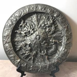 9002 十八世纪意大利铜雕天使铜盘
