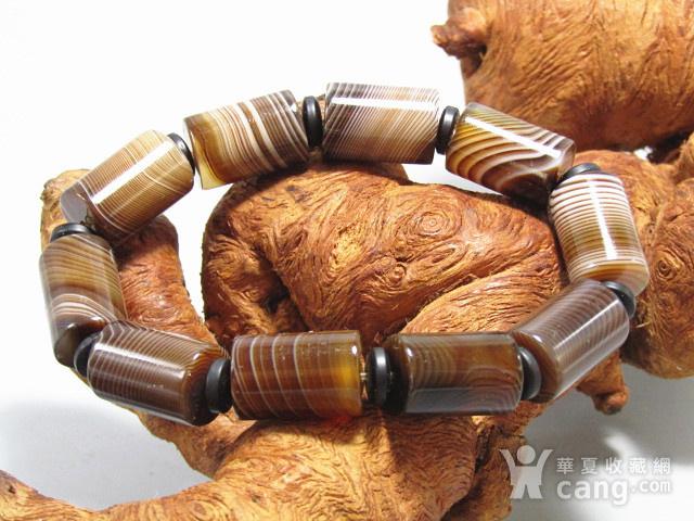 天然缠丝玛瑙 桶珠手串图8