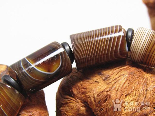 天然缠丝玛瑙 桶珠手串图2