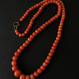 8031欧洲回流红珊瑚项链