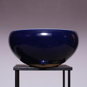 全品 清芥蓝釉钵式瓷香炉 SN116