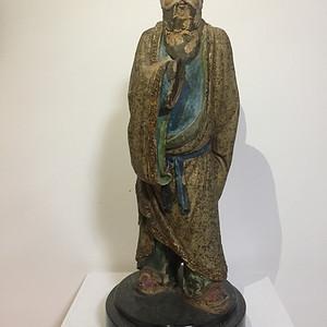 明代泥塑高士像