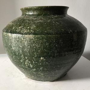 汉绿釉玻璃釉瓶