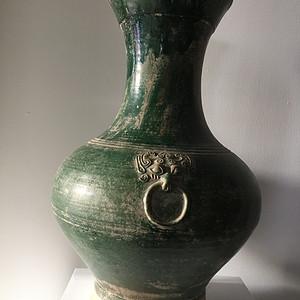 45厘米汉绿釉大壶