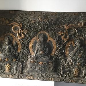 清代宫廷铜雕佛板