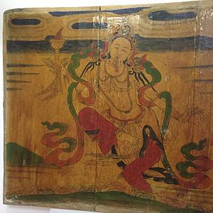 清代藏传木板彩画