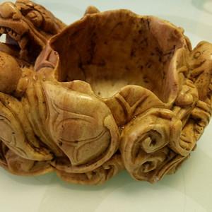 金牌 明清青田石兽形笔洗 鲤鱼跳龙门笔洗 手工雕刻