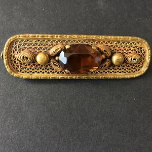 8048欧洲回流铜嵌宝胸针