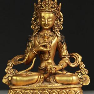 清代鎏金铜金刚萨埵坐像