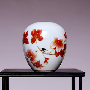 藏海淘 民国花卉纹小罐 全品 SN105