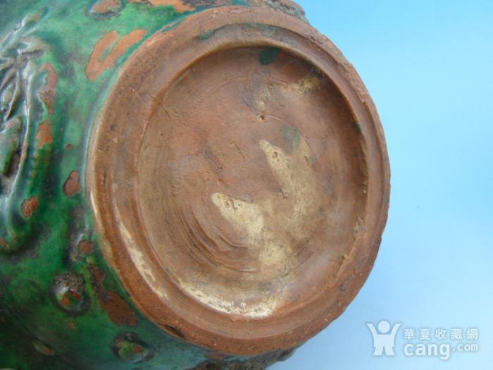 14.明代 绿釉兽环耳海棠盆图10