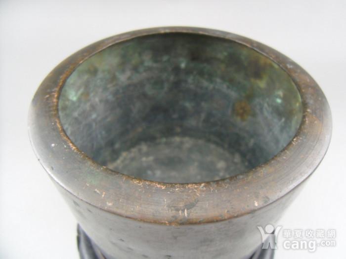17.民国 直筒铜香炉图3