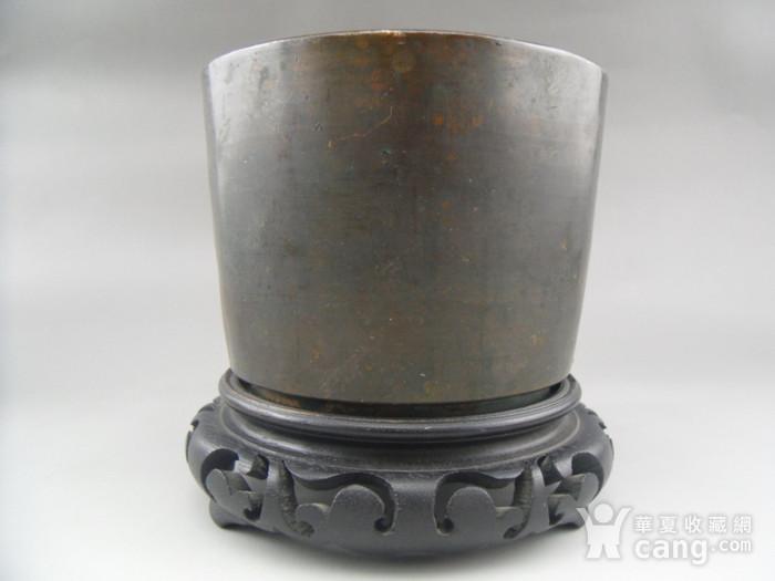 17.民国 直筒铜香炉图4