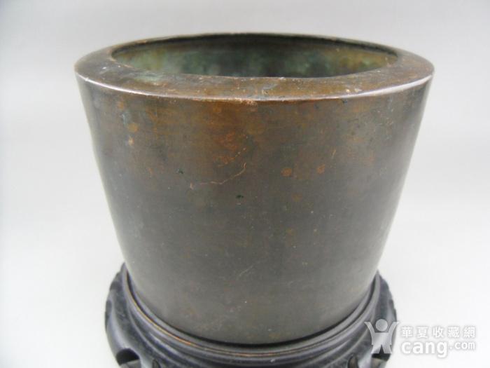 17.民国 直筒铜香炉图5