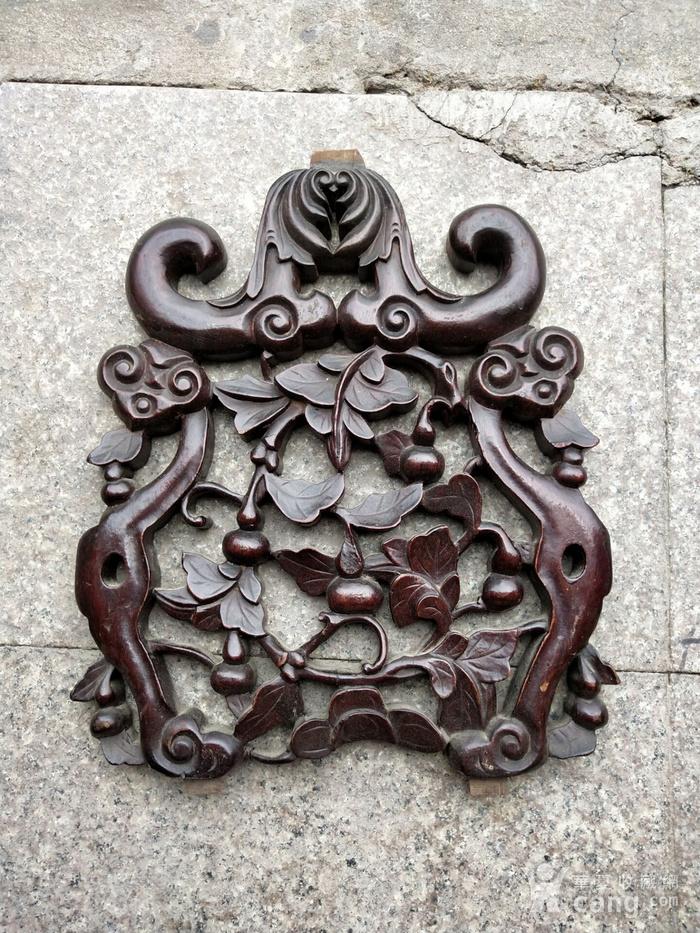 比较漂亮老红木雕刻板图1