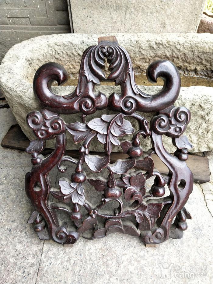 比较漂亮老红木雕刻板图6