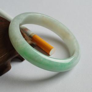 苹果绿翡翠平安手镯 56mm  17JL14