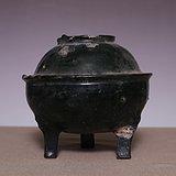 藏海淘 汉绿釉陶鼎炉 SN07