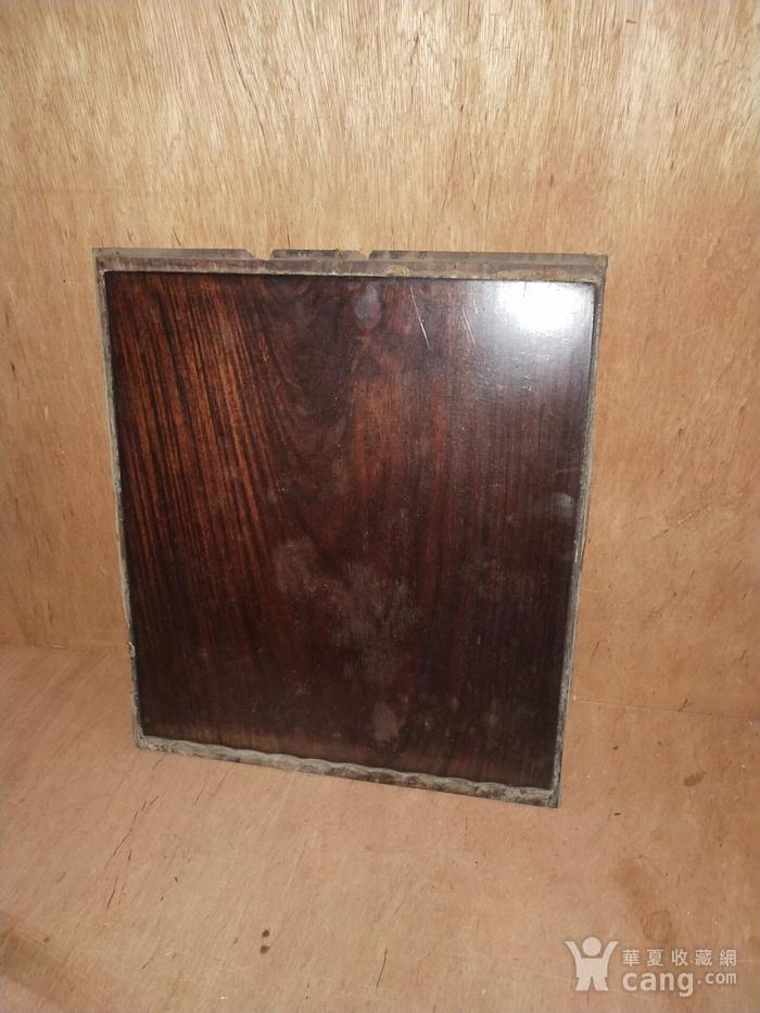红 酸枝素板一片图1