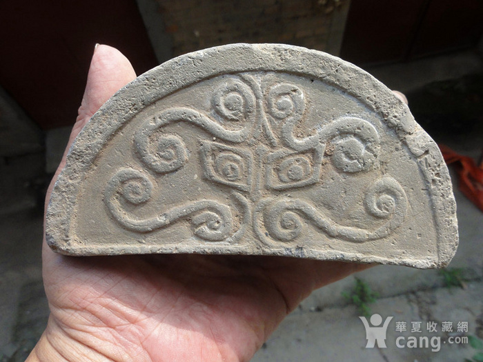 古代蝴蝶纹瓦当图1