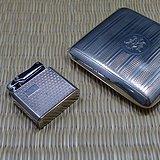 德国Ibelo煤油打火机配英国银烟盒