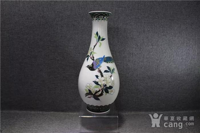 英国回流的醴陵瓷锦鸡富贵图花瓶一对图2