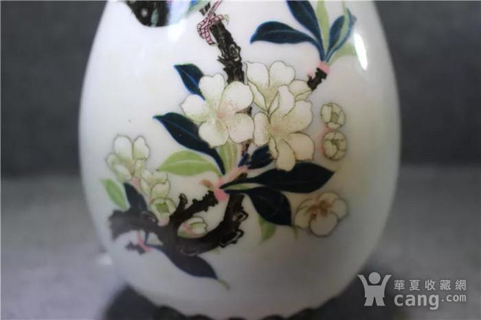 英国回流的醴陵瓷锦鸡富贵图花瓶一对图3