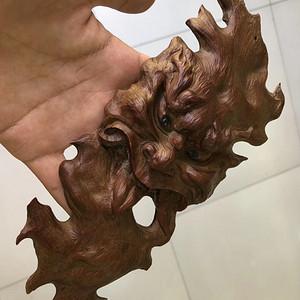 日本 回流 名家雕刻 般若鬼脸 木雕 名家雕刻