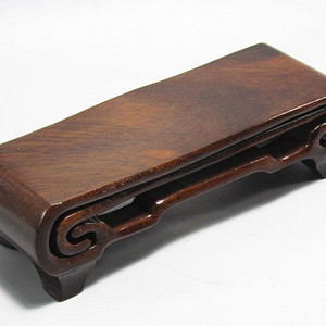 有些年份红木整块料雕一体文玩 抽拉两件套底座