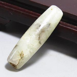 明和田玉玉珠勒子 风化极佳 包浆醇厚