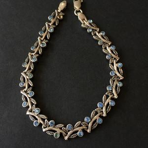 8097欧洲回流银嵌蓝水晶手链