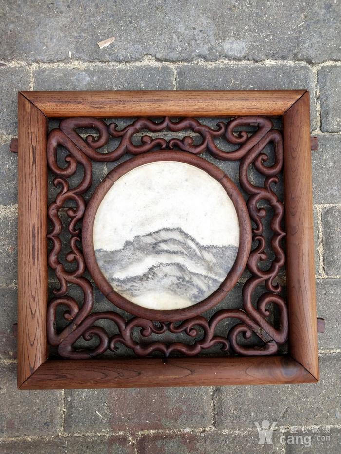 一对非常漂亮的老云石挂屏图4
