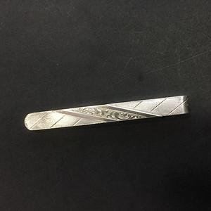 8156欧洲回流银领带夹