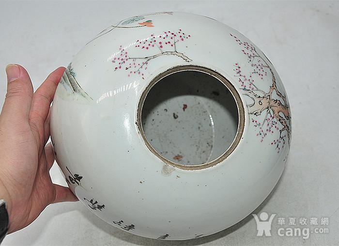 人物粉彩老瓷罐图9