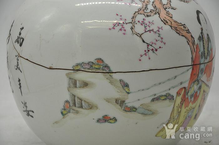 人物粉彩老瓷罐图8