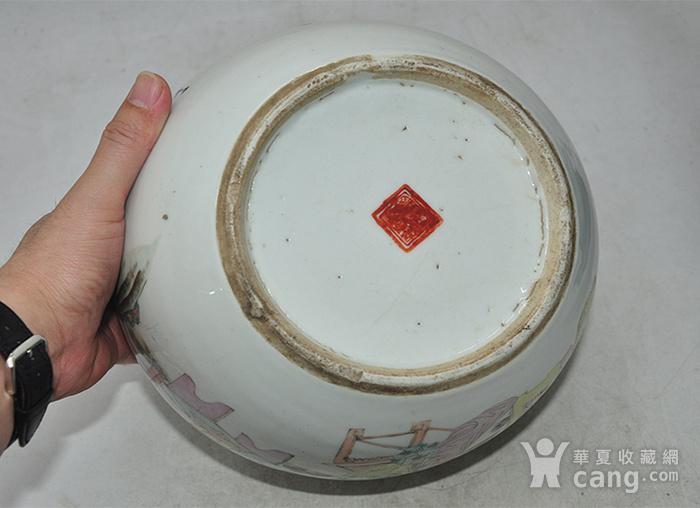 人物粉彩老瓷罐图10