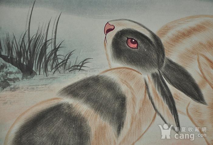 刘奎龄作品 对兔图5