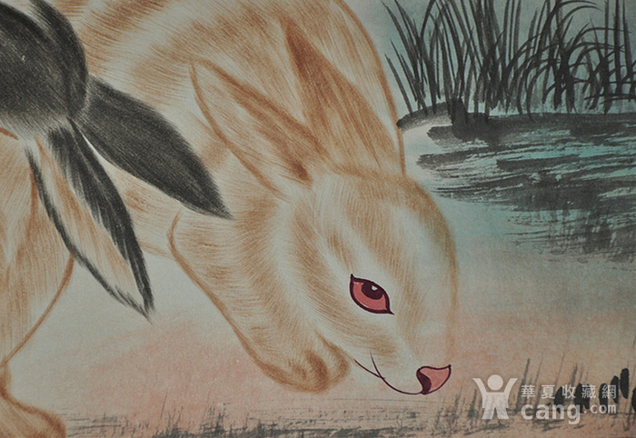 刘奎龄作品 对兔图7