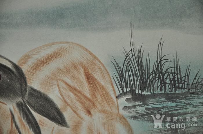 刘奎龄作品 对兔图8