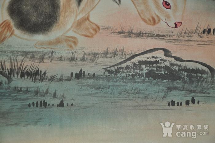 刘奎龄作品 对兔图9