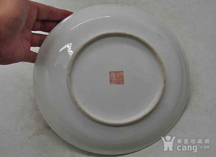 江西瓷碟一对图11