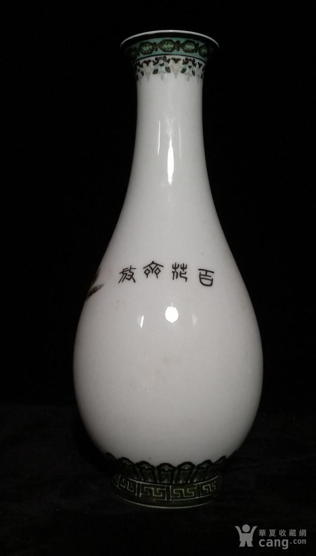 英国回流的醴陵瓷锦鸡富贵图花瓶一对图6