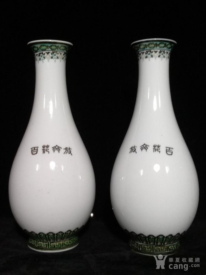 英国回流的醴陵瓷锦鸡富贵图花瓶一对图9