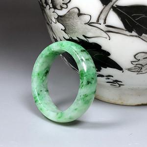 民国 创汇期 天然翡翠A货元宝戒指一枚