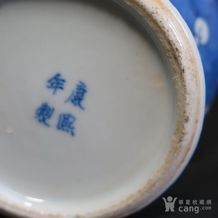 清代冰梅青花将军罐图12
