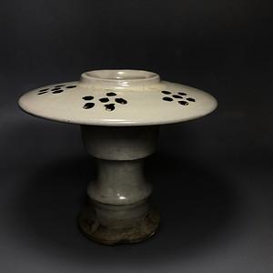 精品 收藏级高古瓷 宋代磁州窑白釉行炉一件
