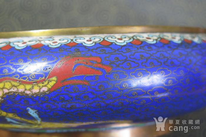清代铜胎珐琅大笔洗图7