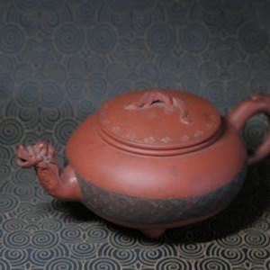 清代三兽蠡龙紫砂壶,标本价
