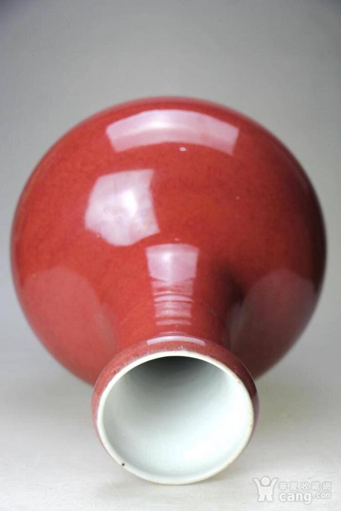大清精品郎红釉洗口大赏瓶图3
