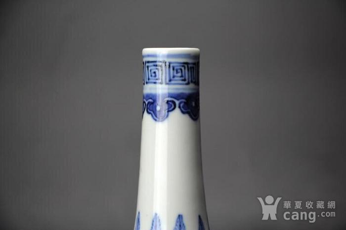 清光绪精品龙穿牡丹纹荸荠直颈瓶图4